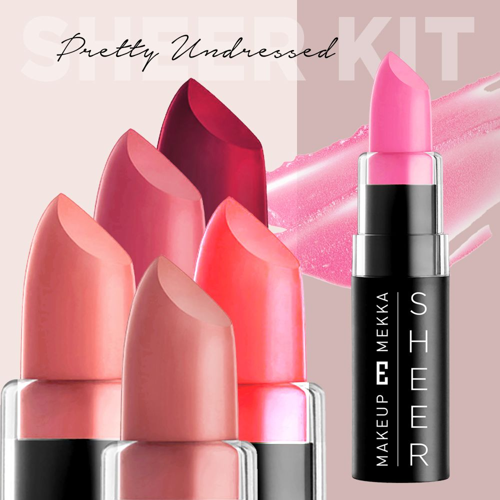 Sheer Lipstick Kit Pretty undressed 6 stk